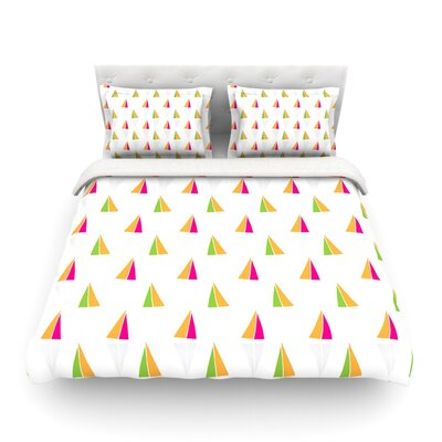 Triangles by Apple Kaur Designs Featherweight Duvet Cover Size: King