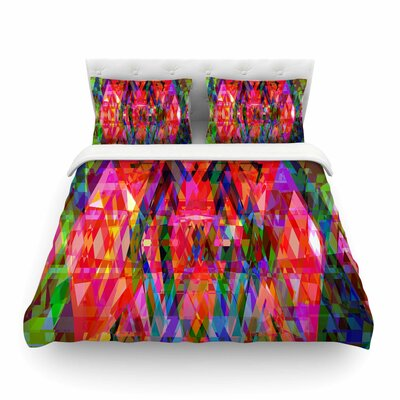 Geo-Prism by Suzanne Carter Featherweight Duvet Cover Size: King