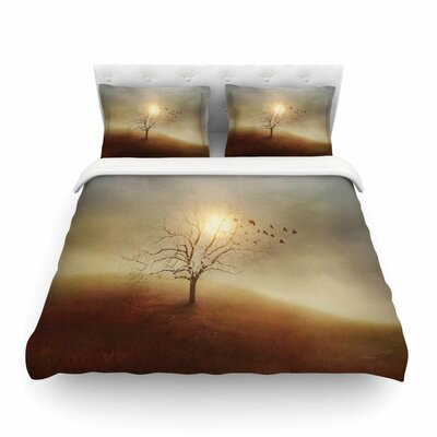 Lone Tree Love I by Viviana Gonzalez Featherweight Duvet Cover Size: Twin