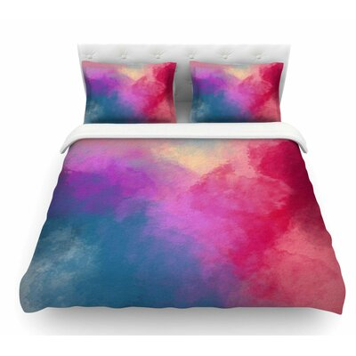 Abstract 01 by Viviana Gonzalez Featherweight Duvet Cover Size: King