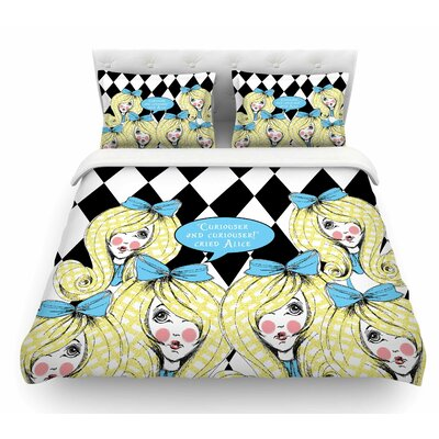 Curious Alice by Zara Martina Mansen Featherweight Duvet Cover Size: Twin