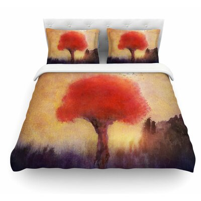 Tree by Viviana Gonzalez Featherweight Duvet Cover Size: Queen