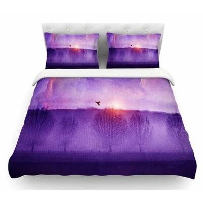Orion Nebula by Viviana Gonzalez Featherweight Duvet Cover Size: Queen