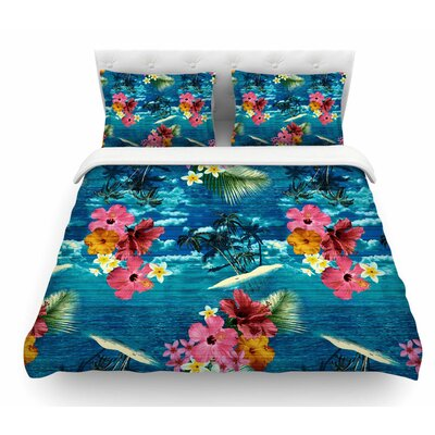 Paradise Island by Victoria Krupp Floral Featherweight Duvet Cover Size: Twin