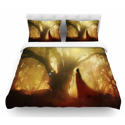 Autumn Song by Viviana Gonzalez Tree Featherweight Duvet Cover Size: King