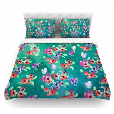 Spring Birds by Zara Martina Mansen Featherweight Duvet Cover Size: Twin