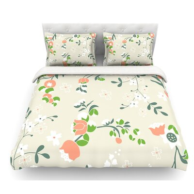 Early Waking by Very Sarie Floral Featherweight Duvet Cover Size: Queen