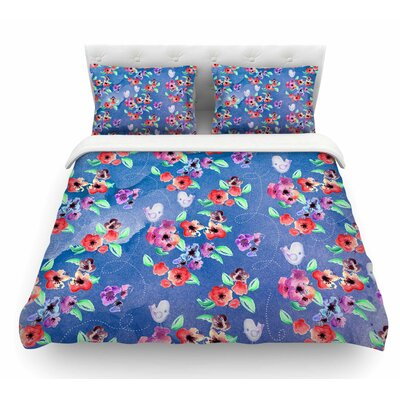 Signs of Spring by Zara Martina Mansen Featherweight Duvet Cover Size: King
