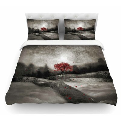 The Sounds and Poems 1 by Viviana Gonzalez Tree Featherweight Duvet Cover Size: Twin