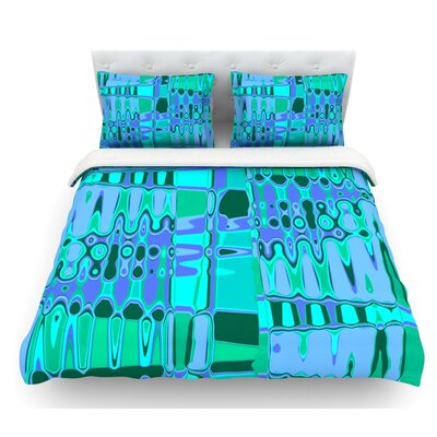 Changing Gears by Vikki Salmela Featherweight Duvet Cover Size: Twin, Color: Blue