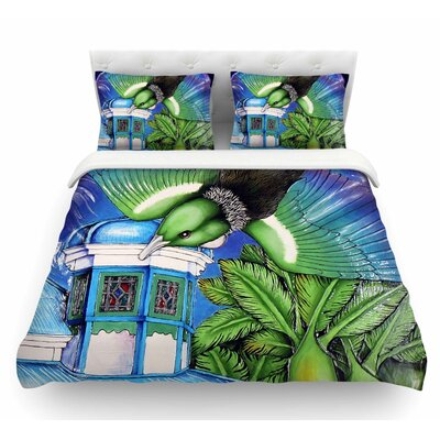 New Zealand by Vinny Thompson Bird Featherweight Duvet Cover Size: King