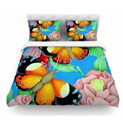 Admiral by Vinny Thompson Tropical Featherweight Duvet Cover Size: Twin