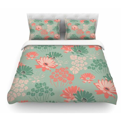 Wild Gatherings by Zara Martina Mansen Coral Featherweight Duvet Cover Size: Queen