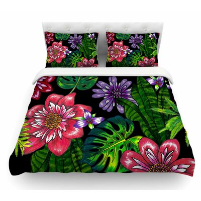 Doodle Tropic by Victoria Krupp Featherweight Duvet Cover Size: King