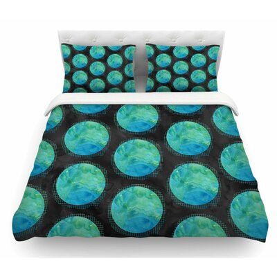 Moon Watercolor by Zara Martina Mansen Polkadot Featherweight Duvet Cover Size: Twin