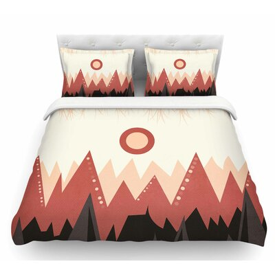Landscape A. by Viviana Gonzalez Coral Featherweight Duvet Cover Size: Twin