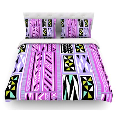 American Blanket Pattern II by Vikki Salmela Featherweight Duvet Cover Size: Queen