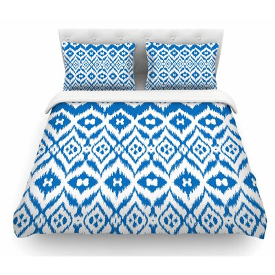 Vk_Ikat by Victoria Krupp Tribal Featherweight Duvet Cover Size: Queen