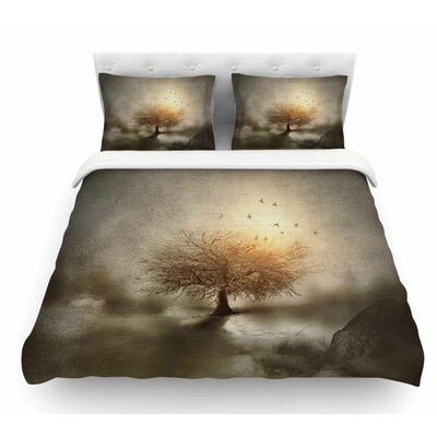 Lone Tree Love IV by Viviana Gonzalez Nature Featherweight Duvet Cover Size: Twin