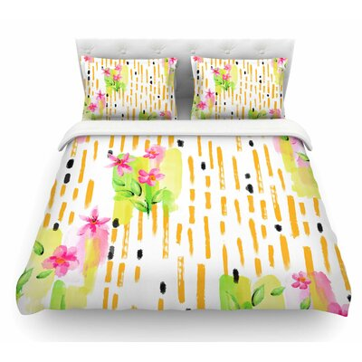 Watercolor Garden by Victoria Krupp Floral Featherweight Duvet Cover Size: Queen