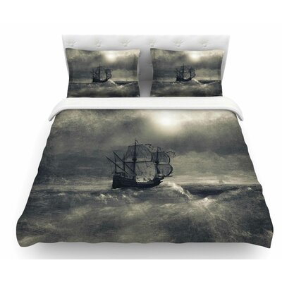 Chapter III by Viviana Gonzalez Ship Featherweight Duvet Cover Size: Twin