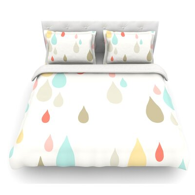 Rainy Days by Very Sarie Rain Featherweight Duvet Cover Size: Twin