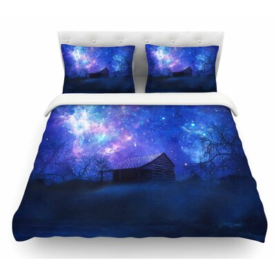 Beginning by Viviana Gonzalez Galaxy Featherweight Duvet Cover Size: Twin