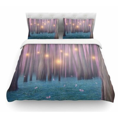 Feather Dance by Viviana Gonzalez Digital Featherweight Duvet Cover Size: Twin