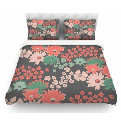 Natures Bouquet by Zara Martina Mansen Featherweight Duvet Cover Size: Twin, Color: Green/Coral