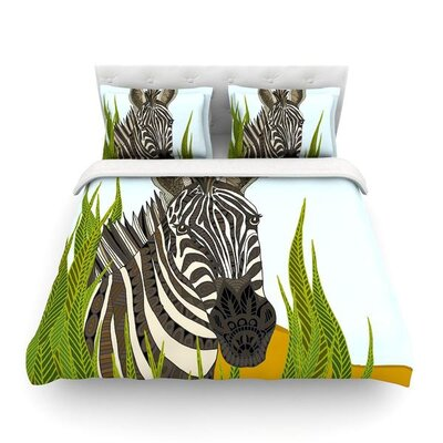 Zebra by Art Love Passion Featherweight Duvet Cover Size: Twin