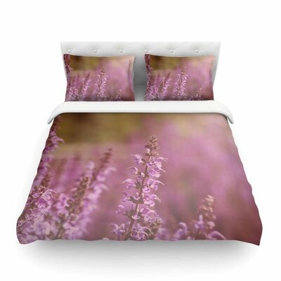 Growing Wild Lavender Nature by Angie Turner Featherweight Duvet Cover Size: King