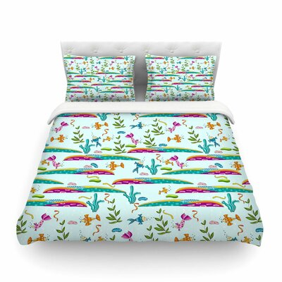 Under Sea Pattern by Alison Coxon Featherweight Duvet Cover Size: King