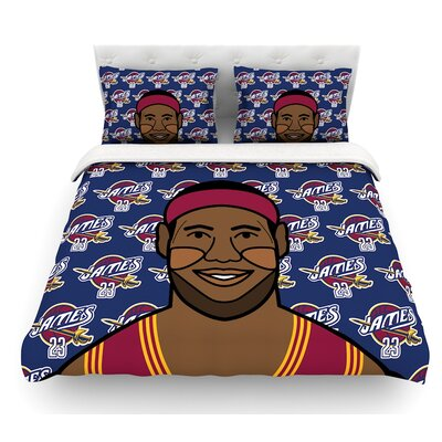 Lebron James by Will Wild Basketball Featherweight Duvet Cover Size: Twin