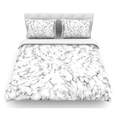 Marble by Will Wild Featherweight Duvet Cover Size: Queen
