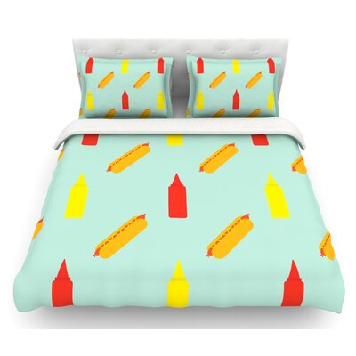 Hot Dog Pattern by Will Wild Food Featherweight Duvet Cover Size: King