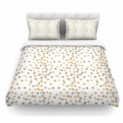 Autumn Spots by Yenty Jap Featherweight Duvet Cover Size: Queen