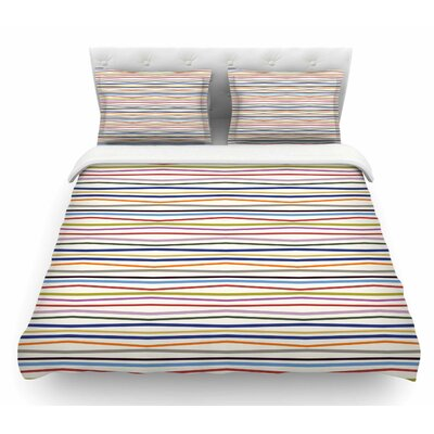 Stripe Fun by Yenty Jap Featherweight Duvet Cover Size: King