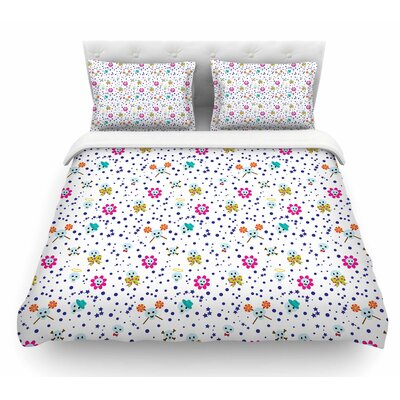 Happy Skull by Yenty Jap Featherweight Duvet Cover Size: Queen