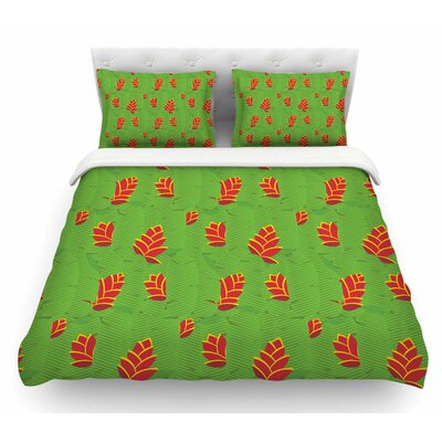 Heliconia by Yenty Jap Featherweight Duvet Cover Size: Twin