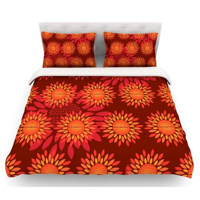 Sunflower Season by Yenty Jap Featherweight Duvet Cover Size: Queen