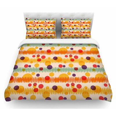 Bubble Stripes Fun by Yenty Jap Geometric Featherweight Duvet Cover Size: King