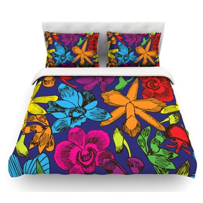 Lovely Orchids by Yenty Jap Floral Featherweight Duvet Cover Size: King