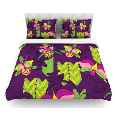 Orchids Festival by Yenty Jap Featherweight Duvet Cover Size: King