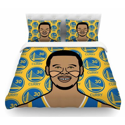 Steph Curry by Will Wild Sports Featherweight Duvet Cover Size: King