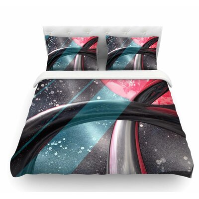 Geometric Mars by Infinite Spray Art Featherweight Duvet Cover Size: Queen