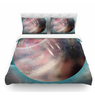 Dimensions by Infinite Spray Art Planet Featherweight Duvet Cover Size: King