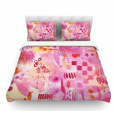 Sweet Dreams by Nic Squirrell Abstract Featherweight Duvet Cover Size: King