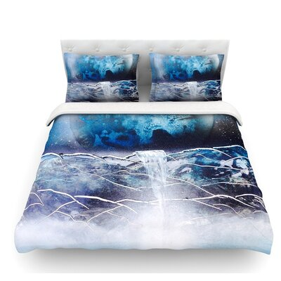 Surreal Falls by Infinite Spray Art Planet Featherweight Duvet Cover Size: Twin