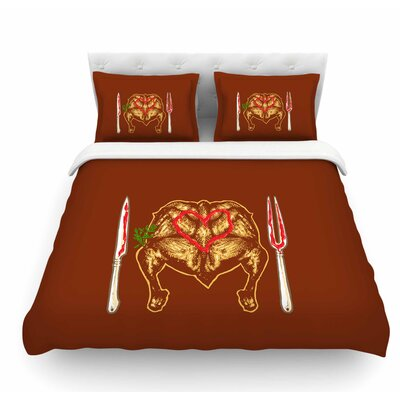 Weekly Menu by BarmalisiRTB Digital Featherweight Duvet Cover Size: King