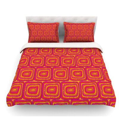 Bright Squares by Nandita Singh Featherweight Duvet Cover Size: Queen